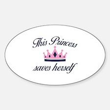 This Princess Saves Herself Decal