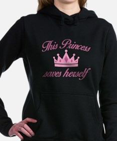 This Princess Saves Herself Hooded Sweatshirt