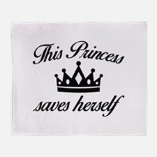 This Princess Saves Herself Stadium Blanket