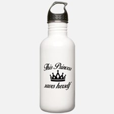This Princess Saves Herself Water Bottle