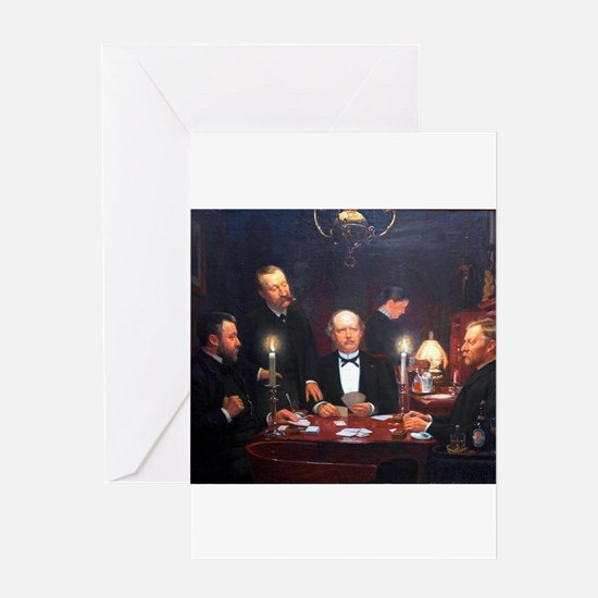 card player art Greeting Cards