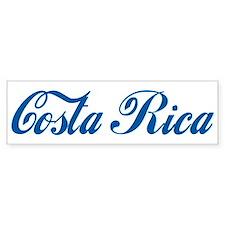 Costa Rica (cursive) Bumper Bumper Sticker