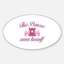 This Princess Saves Herself Decal