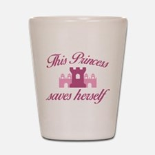 This Princess Saves Herself Shot Glass