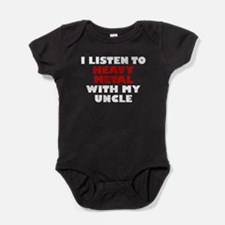 Heavy Metal With My Uncle Baby Bodysuit