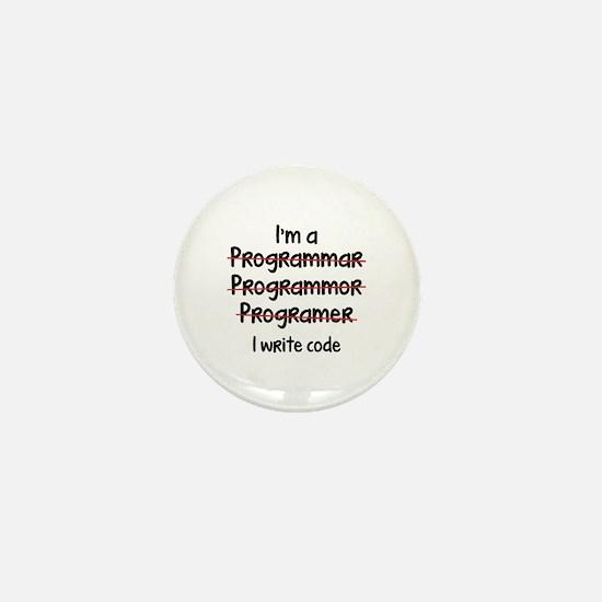 I Write Code Mini Button