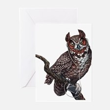 Great Horned Owl with He Greeting Cards (Pk of 10)