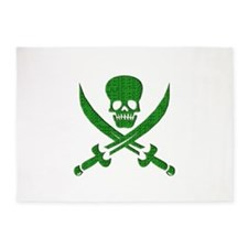 Hacker Bandit Skull Program Crasher 5'x7'Area Rug