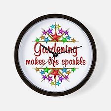 Gardening Sparkles Wall Clock