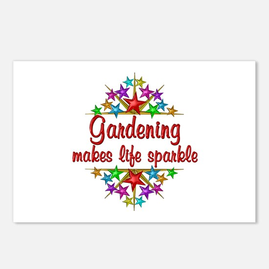 Gardening Sparkles Postcards (Package of 8)