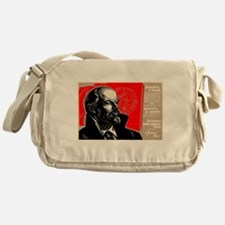 Lenin Marxist Quotes Red Soviet Revo Messenger Bag