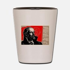 Lenin Marxist Quotes Red Soviet Revolut Shot Glass