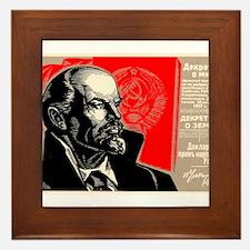 Lenin Marxist Quotes Red Soviet Revolu Framed Tile