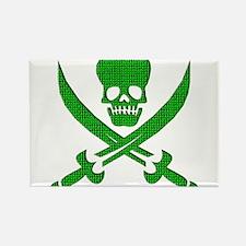Hacker Bandit Skull Program Crasher Pirate Magnets