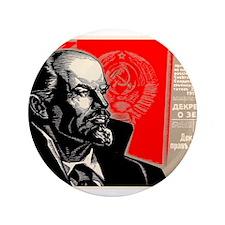 Lenin Marxist Quotes Red Soviet Revolution Button