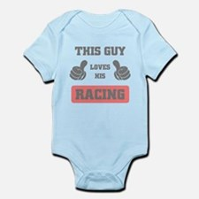 THIS GUY LOVES HIS RACING Body Suit