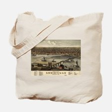 Vintage Pictorial Map of Louisville (1876 Tote Bag