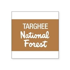 "Cute Park ranger Square Sticker 3"" x 3"""