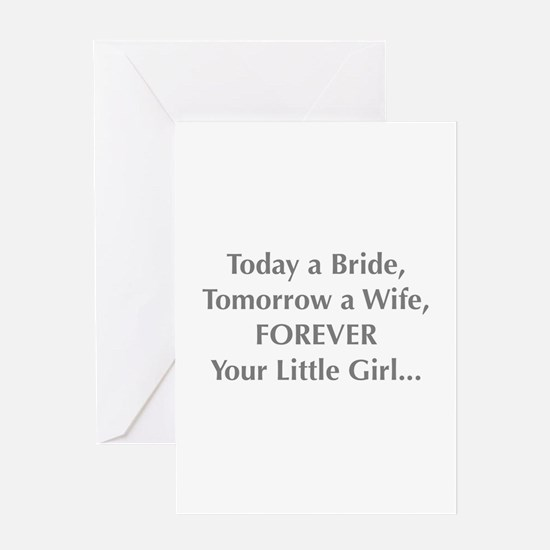 Bride Poem to Parents Greeting Cards