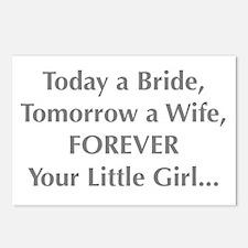 Bride Poem to Parents Postcards (Package of 8)