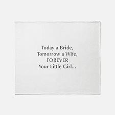 Bride Poem to Parents Throw Blanket