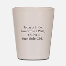 Bride Poem To Parents Shot Glass