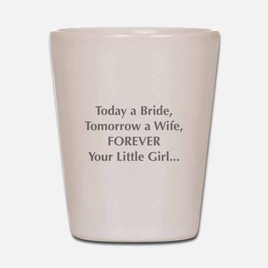 Bride Poem To Parents Shot Glass