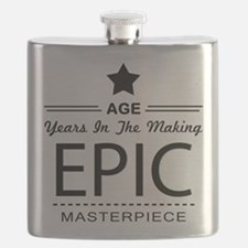 Birthday Personalize Age Epic Masterpiece Flask