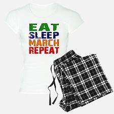 Eat Sleep March Repeat Pajamas