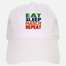 Eat Sleep March Repeat Baseball Baseball Baseball Cap