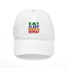Eat Sleep March Repeat Baseball Baseball Cap
