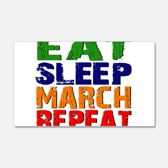 Eat Sleep March Repeat Wall Decal