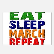 Eat Sleep March Repeat Postcards (Package of 8)