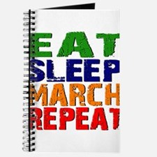 Eat Sleep March Repeat Journal
