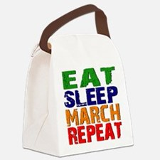 Eat Sleep March Repeat Canvas Lunch Bag