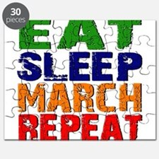 Eat Sleep March Repeat Puzzle