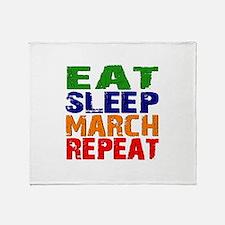 Eat Sleep March Repeat Throw Blanket