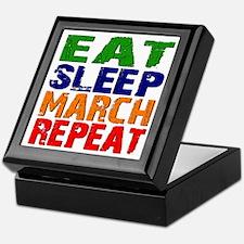 Eat Sleep March Repeat Keepsake Box