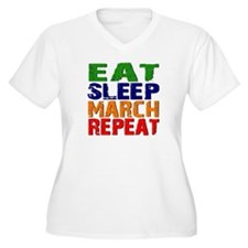 Eat Sleep March Repeat Plus Size T-Shirt