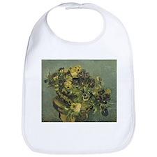 Van Gogh Basket of Pansies Bib