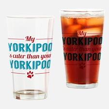 Cuter Yorkipoo Drinking Glass