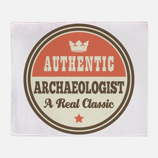 Archaeologist Funny Vintage Throw Blanket
