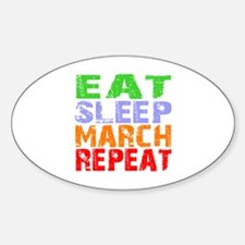 Eat Sleep March Repeat Dark Decal