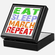 Eat Sleep March Repeat Dark Keepsake Box