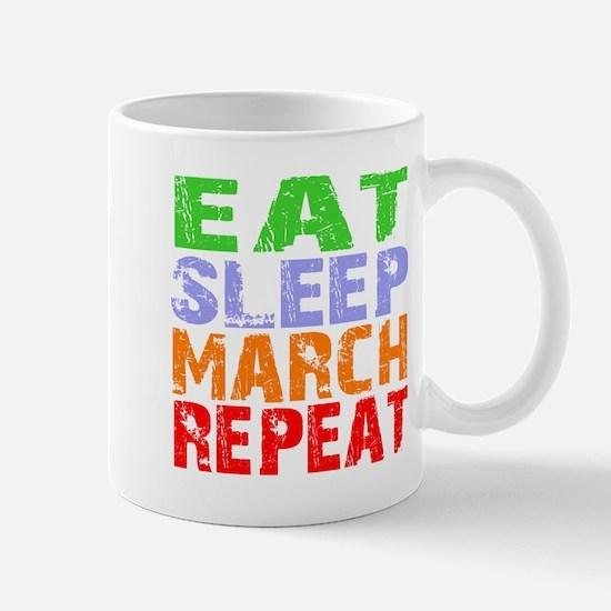 Eat Sleep March Repeat Dark Mug