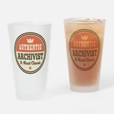 Archivist Funny Vintage Drinking Glass