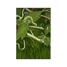 Leaf Dragons First Attack Rectangle Magnet