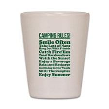 Camping Rules Shot Glass