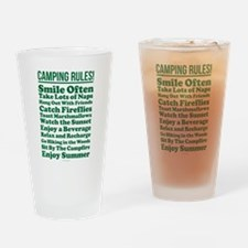 Camping Rules Drinking Glass