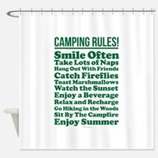 Camping Rules Shower Curtain